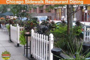 Outdoor Dining in Downtown Chicago