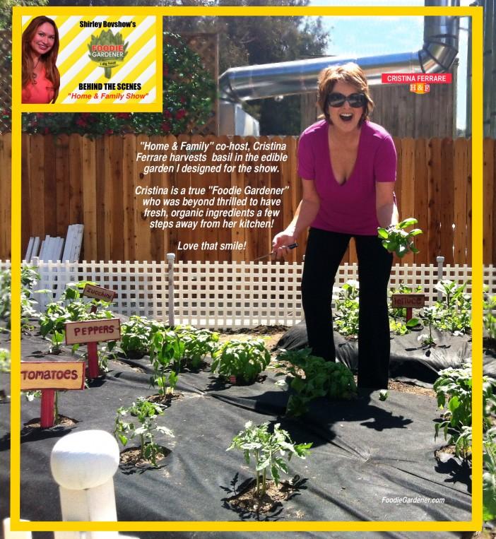 Foodie Gardener Cristina Ferrare Of Home And Family Show