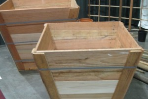 Recycled Wood Tree Box As Raised Vegetable Planter