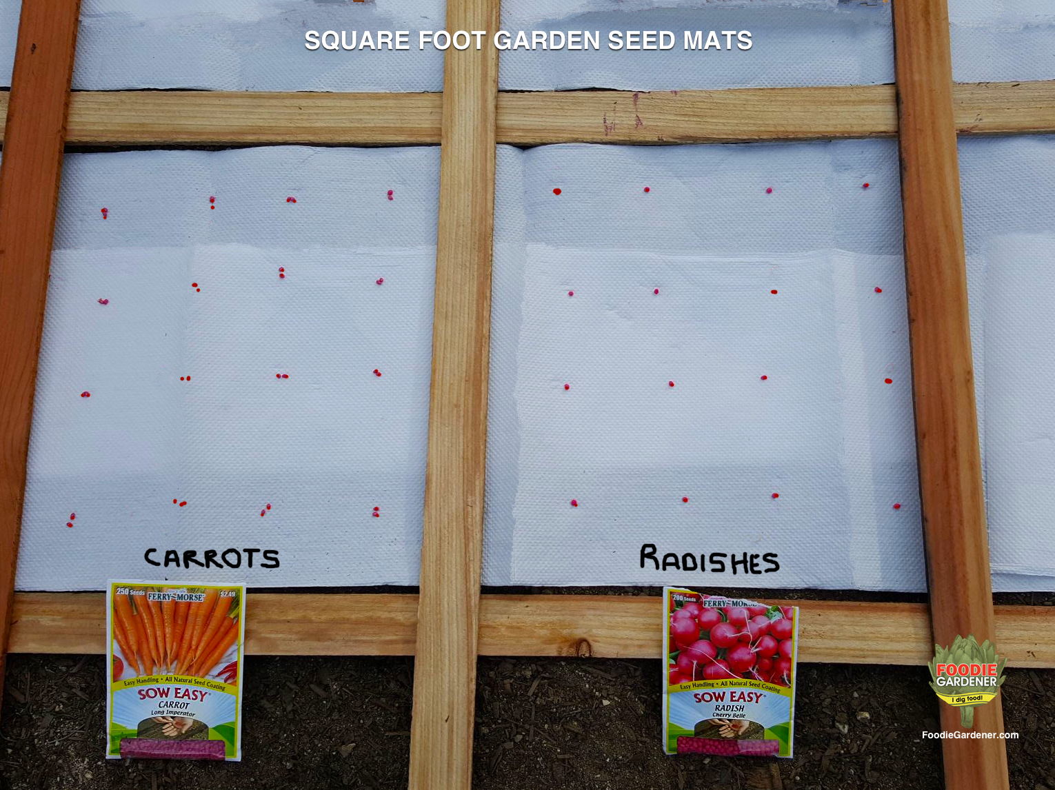 diy vegetable seed mats for square foot gardens the foodie gardener