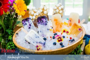 Gourmet Edible Flower Popsicles